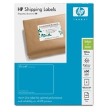 HP White Shipping Labels
