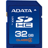 Adata ASDH32GCL4-R 32 GB Secure Digital High Capacity (SDHC) - 1 Card - Retail ASDH32GCL4-R