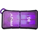 P-FDU8GBSLK/PRP-EFS2 - PNY Micro Sleek Attach P-FDU8GBSLK/PRP-EFS2 8 GB USB 2.0 Flash Drive - Purple