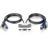 Iogear MiniView Micro USB Plus 2-Port KVM Switch GCS632U