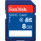 SanDisk 8 GB Secure Digital High Capacity (SDHC) - 1 Card SDSDB-008G-B35S