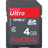SanDisk Ultra 4 GB Secure Digital High Capacity (SDHC) - 1 Card SDSDH-004G-U46S