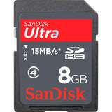 SanDisk Ultra SDSDH-008G-U46S 8 GB Secure Digital High Capacity (SDHC) - 1 Card SDSDH-008G-U46S