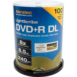Aleratec 300120 DVD Recordable Media - DVD+R DL - 8x - 8.50 GB - 100 Pack