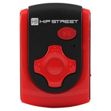 Hip Street 4 GB Flash MP3 Player - Red HS-601-4GBRD