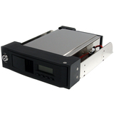 StarTech.com 5.25in Trayless Hot Swap Mobile Rack for 3.5in SATA HDD with LCD & Fan HSB110SATBK
