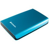 Verbatim 500GB Store 'n' Go Portable Hard Drive, USB 3.0 - Blue