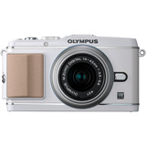 Olympus PEN E-P3 12.3 Megapixel Mirrorless Camera (Body with Lens Kit) - 17 mm - White V204033WU000