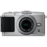 Olympus PEN E-P3 12.3 Megapixel Mirrorless Camera (Body with Lens Kit) - 17 mm - Silver V204033SU000