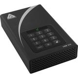"Apricorn Aegis Padlock ADT-3PL128-2000 2 TB 3.5"" External Hard Drive"