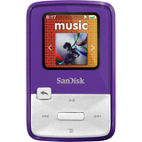 SanDisk Sansa Clip Zip SDMX22-004G-A57P 4 GB Purple Flash MP3 Player
