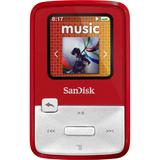 SanDisk Sansa Clip Zip SDMX22-004G-A57R 4 GB Flash MP3 Player - Red