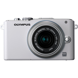 Olympus PEN E-PL3 12.3 Megapixel Mirrorless Camera (Body with Lens Kit) - 14 mm - 42 mm - White V205031WU000