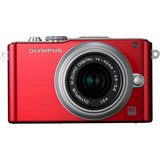 Olympus PEN E-PL3 12.3 Megapixel Mirrorless Camera (Body with Lens Kit) - 14 mm - 42 mm - Red V205031RU000