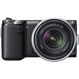 Sony alpha NEX-5N 16.1 Megapixel Mirrorless Camera (Body with Lens Kit) - 18 mm - 55 mm - Black NEX5NKB