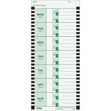 Lathem Weekly Attendance Card