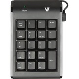 V7 KP0N1-7N0P Numeric Keypad - Wired - Black KP0N1-7N0P