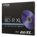 TDK Life on Record Blu-ray Recordable Media - BD-R XL - 4x - 100 GB - 1 Pack Jewel Case