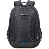 """Solo Tech Carrying Case (Backpack) for 17.3"""" Notebook, iPad, Digital Text Reader, Tablet PC - Black, Blue"""