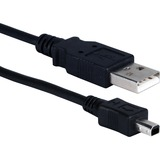 QVS 6ft, Black, Connectors: Type A Male to Mini B 4Pin Male)