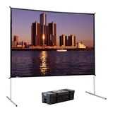 "Da-Lite Fast-Fold Deluxe Manual Projection Screen - 166"" - 16:9 - Portable 88693HD"