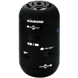 DIAMOND Mini Rocker MSPBT200 Speaker System - 4 W RMS - Wireless Speaker(s) - Black MSPBT200B