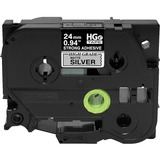 Brother HGES9515PK Black on Matte Silver Extra-Strength Adhesive Label - HGES9515PK