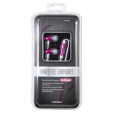 Link Depot Stereo Handsfree Earphones - for iPhones LD-HDS-PNK