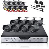 Zmodo 8 CH CCTV Surveillance DVR Outdoor IR Camera System No Hard Drive PKD-DK0865-NHD