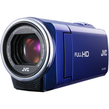 "JVC Everio GZ-E10 Digital Camcorder - 2.7"" LCD - CMOS - Full HD - Blue"