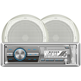 Dual MCP100 Marine Flash Audio Player - 240 W RMS - Single DIN - MCP100