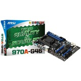 MSI 970A-G46 Desktop Motherboard - AMD 970 Chipset - Socket AM3+ - 970AG46