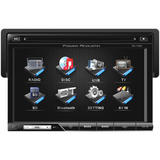 "Power Acoustik PD-710 Car DVD Player - 7"" Touchscreen LCD Display - 80 - PD710"