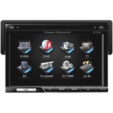 "Power Acoustik PD-710B Car DVD Player - 7"" Touchscreen LCD - 68 W RMS - PD710B"