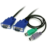 StarTech.com 25 ft 3-in-1 Ultra Thin PS/2 KVM Cable