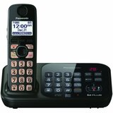 Panasonic KX-TG4741B Cordless Phone - 1.90 GHz - DECT 6.0 - Black - KXTG4741B