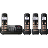 Panasonic KX-TG4744B Cordless Phone - 1.90 GHz - DECT 6.0 - Black - KXTG4744B