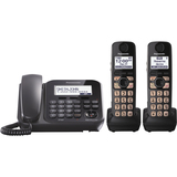 Panasonic KX-TG4772B Cordless Phone - 1.90 GHz - DECT 6.0 - Black - KXTG4772B
