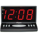 "Geneva Clock 2.5"" LED Red Display - Black"