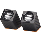 Manhattan 161664 2.0 Speaker System - 2 W RMS - Black - 161664