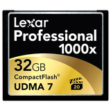 Lexar Media Professional 32 GB CompactFlash (CF) Card - 1 Card/1 Pack - LCF32GCTBNA1000