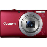 Canon PowerShot A4000 IS 16 Megapixel Compact Camera - Red - 6150B001