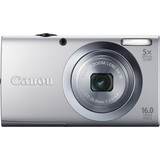 Canon PowerShot A2400 IS 16 Megapixel Compact Camera - Silver - 6183B001