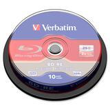 Verbatim 43694 Blu-ray Rewritable Media - BD-RE - 2x - 25 GB - 10 Pack Spindle 43694