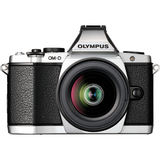 Olympus OM-D E-M5 16.1 Megapixel Mirrorless Camera (Body with Lens Kit) - 12 mm - 50 mm - Silver V204045SU000