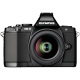 Olympus OM-D E-M5 16.1 Megapixel Mirrorless Camera (Body with Lens Kit) - 12 mm - 50 mm - Black V204045BU000