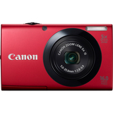 Canon PowerShot A3400 IS 16 Megapixel Compact Camera - Red 6186B005