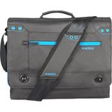 """Altego Coated Canvas Cyan 15"""" Laptop Messenger Bag"""