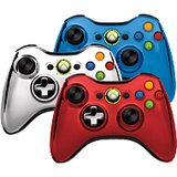 Microsoft Xbox 360 Special Edition Chrome Series Wireless Controller 43G-00019