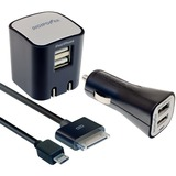 DigiPower SP-PK200 Universal Smartphone Home and Car Charging Kit SP-PK200